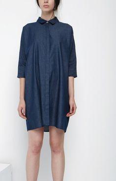 Beaumont Organics, Denim Shirt Dress - Look