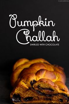 Pumpkin Challah Swirled with Chocolate by @amyleescott