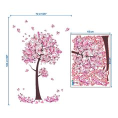 Flower Butterfly Tree Living Room Wall Sticker Decal Kid Girls Bedroom Decor DIY $5.95