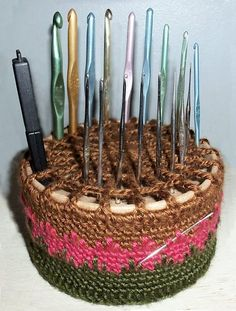 Spiderweb Hook Caddy pattern by Joyce Lewis - useful crochet and free @ravelry!