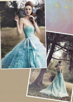 Fluffy Tiffany blue dress
