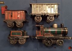 German O-gauge tin wind-up locomotive by Bing, circa 1902.