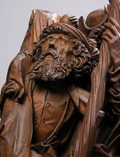 Attributed to Tilman Riemenschneider, Detail, Limewood Carving of Saints Christopher, Eustace, and Erasmus, German, c. 1500 - 1505
