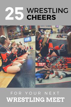 $24.99 25 Wrestling Cheers! Innovative, easy to change for your own team name! #cheerleading #wrestlingcheers