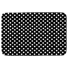 Black And White Polka Dot Bathmat on CafePress.com