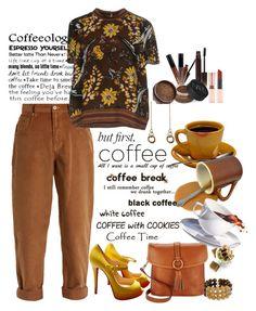 """Coffeebreak"" by marionmeyer ❤ liked on Polyvore featuring Miu Miu, Christian Louboutin, Dooney & Bourke, Prada, Laura Lombardi, Erica Lyons, Laura Mercier, NARS Cosmetics, Forever 21 and coffeebreak"