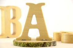 Custom Wooden Letters for Rustic Wedding, Home Decor and Nursery | KlikKlakBlocks - Woodworking on ArtFire