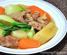 Beef Nilaga is a type of stew cooked with potatoes, carrots, and sometimes plantains. Trying this recipe will make yo feel warm on cold weather.