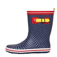 Frete grátis, outono einverno fresh pequenas polka dot moda botas mulheres de chuva joelho alto bloco de cor