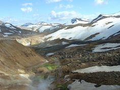 Icelandic Hot Springs: Borholan is in the Kerlingarfjöll Mountains, pictured here.
