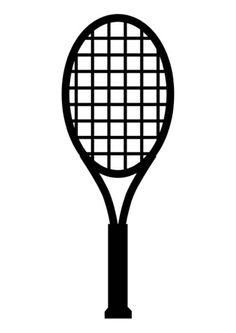 Kleurplaat tennisraket mama vind leuk