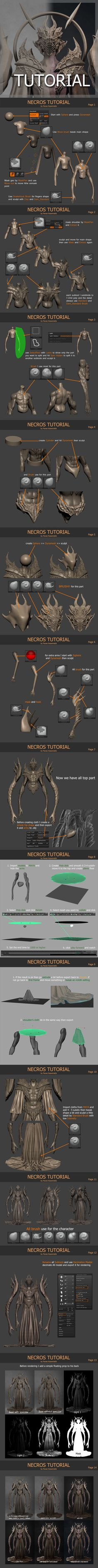 Necros [Tutorial] by Khempavee.deviantart.com on @DeviantArt                                                                                                                                                      Plus