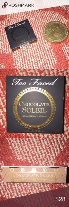 BRAND NEW TOO FACED This amazing bronzer by Too Faced is brand new!! Still in box! Can't beat this offer! Buy now:) Too Faced Accessories