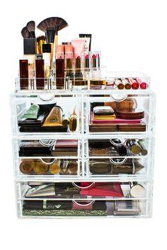 Sorbus Acrylic 4 Level Cosmetics Makeup & Jewelry Storage Case X-Large Display Set Affiliate Ad Makeup Jewellery Storage, Makeup Storage, Makeup Organization, Jewelry Storage, Boho Makeup, Cosmetic Display, Cosmetic Storage, Rustic Home Design, Luxury Home Decor