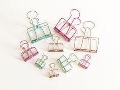 Metal Binder Clips Green Purple Silver Korean Stationery Bookmarks Cute Planner #UnbrandedGeneric