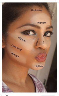 Have you heard of makeup contouring? It is a process of Haben Sie von Makeup Contouring gehört? Es ist ein Prozess des Hervorhebens, Bronzins … – Make-up Geheimnisse Have you heard of makeup contouring? It& a process of highlighting, bronze … have - How To Apply Concealer, Contouring And Highlighting, Contouring Guide, Applying Highlighter, Contouring For Beginners, Makeup Contouring Tutorial, Makeup Blending, Makeup Ideas, Makeup Tutorials