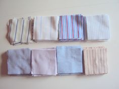 Reuse mens shirts to make a patchwork quilt