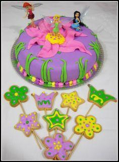 Torta y cookiepops Hadas