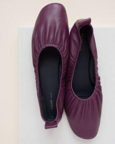 M i n u t e s – Céline ballet flats in purple