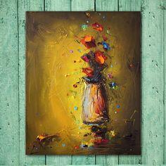 Original Art Floral Painting Abstract от StanislavLazarovArt