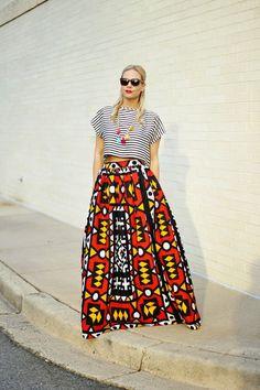 Mélange Mode Resort Maxi Skirt by MelangeMode on Etsy