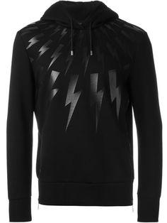 NEIL BARRETT Lightning Bolt Hoodie. #neilbarrett #cloth #hoodie