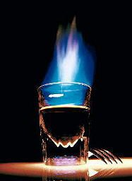 Demon's Breath is a Halloween drink that is certain to give you a kick, a kiss, and a bite.  Bear that in mind.