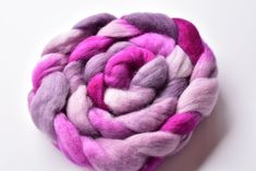 Corriedale Wool Sliver/Roving/Top Hand Dyed Hot Raspberry Mix 12407 Nuno Felting, Needle Felting, Drop Spindle, Wool Wash, Weaving Projects, Mulberry Silk, Spinning, Hot Pink, Raspberry