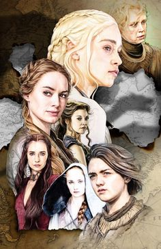 Game of Thrones Women by Corbyn Kern, in Alan Hamilton's Daenerys Targaryen and The Game of Thrones Comic Art Gallery Room Dessin Game Of Thrones, Game Of Thrones Artwork, Winter Is Here, Winter Is Coming, Arya Stark, Geeks, Game Of Thrones Instagram, Game Of Thones, Daenerys Targaryen