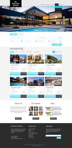 real estate website design #網頁設計 #網頁教學 #設計 #旅遊住宿 #視覺設計