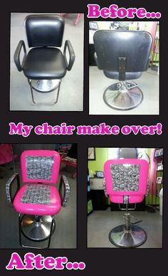 Revamped my styling chair.  Got the idea from here. Used Duck Tape.  Fun, easy project.