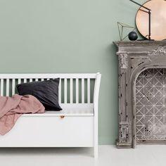 Oliver Furniture Truhenbank mit Sprossen Weiß | online kaufen | Emil & Paula