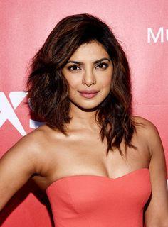 Priyanka Chopra Medium Wavy Cut with Bangs - Medium Wavy Cut with Bangs Lookbook - StyleBistro