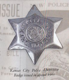 Kansas City Police Detective Badge issued in about 1901