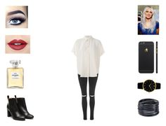 """""""Lou - Backstage AMAs"""" by annie-stylesx ❤ liked on Polyvore featuring Topshop, STELLA McCARTNEY, Stephane Kélian, Fiebiger, Chanel, ABS by Allen Schwartz and Larsson & Jennings"""