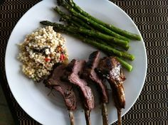 Grilled lamb and couscous.
