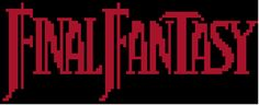 Final Fantasy I Title Cross Stitch Pattern free pattern.. this site has alot of game ones