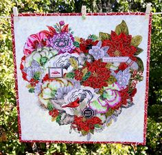 MarveLes Art Studios: a heart to give for... christmas collage pillows ~