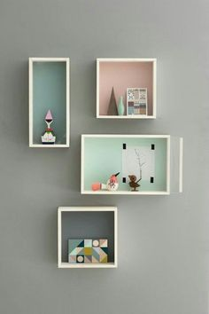 Idee deco pastel shelves idea girly diy office