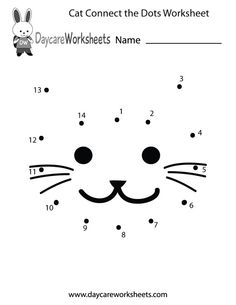 Preschoolers can connect the dots to make a cat in this free activity worksheet.