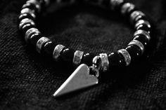 Det här vill jag ha! Armband svarta pärlor och hjärta - Armband - Rock by Valje