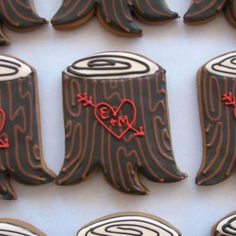 Love this Tree Stump Cookie Favors by #whippedbakeshop for $6.00 each http://www.whippedbakeshop.com