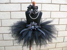 Black Tutu  Midnight Pixie Tutu  Custom Sewn Tutu  by TiarasTutus, $30.00