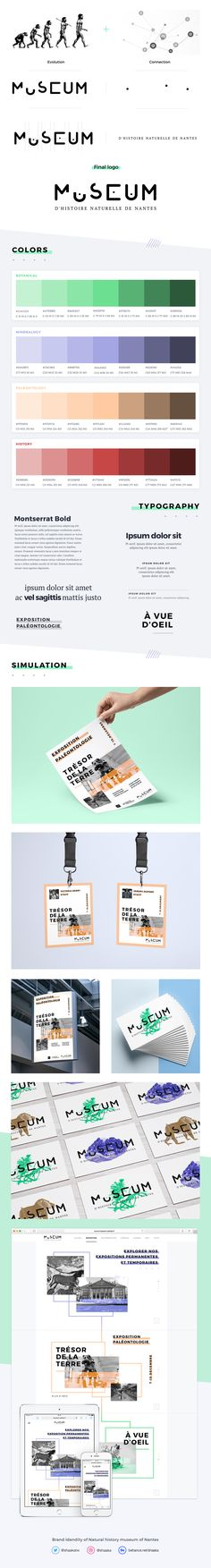 Natural history museum of Nantes - Brand identity on Behance