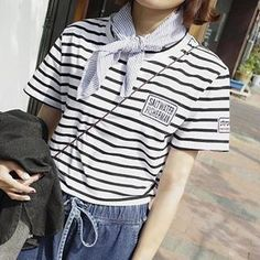 Buy 'Eva Fashion – Short Sleeves Striped T-shirt' with Free Shipping at YesStyle.com.au. Browse and shop for thousands of Asian fashion items from China and more!