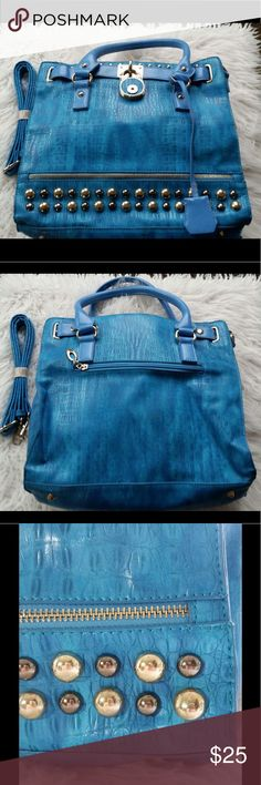 Just Fab L Satchel Bright blue satchel. Brand new. Has extra long strap to convert to cross body bag. In excellent NWOT condition. JustFab Bags Satchels
