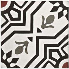 cement flooring Merola Tile Cemento Ellis Moonlight Encaustic in. Cement Handmade Floor and Wall Tile, Black/White And Red/Low Sheen Vinyl Wallpaper, Star Patterns, Tile Patterns, Mosaic Tiles, Wall Tiles, Bathroom Splashback, Polished Cement, Tile Decals, Encaustic Tile