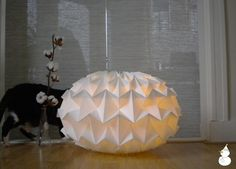 something for my (imaginary) lamp shade collection :-)  paper lamp by Etsy seller nellianna $99