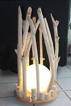 Lampe bois flotté #LampBois