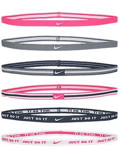 Nike Sport Hairbands 6-Pack Grey/Pink